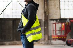 The team at Sputnik Zurich aim to keep bikers and pedestrians both visible and fashionable when they're out in the urban world with their high visibility bags.
