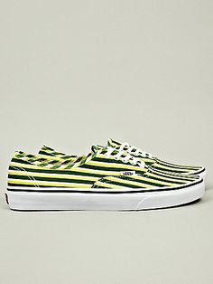 d281f0d2ead Kenzo x Vans Men s Striped Authentic in green   yellow at oki-ni