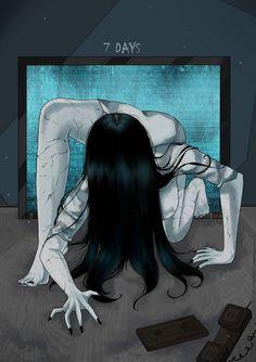 Arte Horror, Horror Art, The Ring Samara, Scary Movies, Horror Movies, Samara Morgan, Japanese Urban Legends, Ring Horror, Imagenes Dark