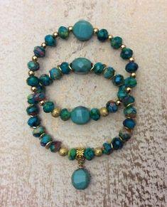perle rocaille verre vert nacré  //11.11