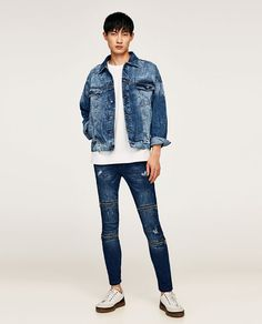 c32f8c35f6c Image 1 of OVERSIZED DENIM JACKET from Zara Tapered Jeans
