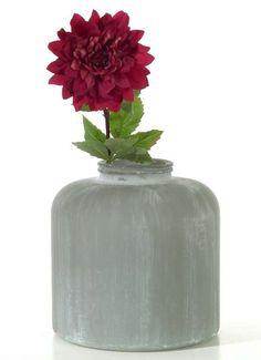 "Bodenvase ""Betonoptik"" aus Glas 36 cm hoch"