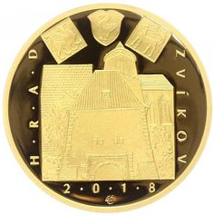 Numismatics | CZ coins | Zlatá mince ČNB 2018 - HRAD ZVÍKOV | Aukro Coins, Personalized Items, Rooms