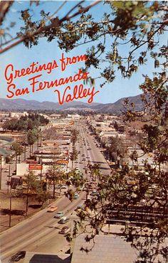 San Fernando Valley California Birds-Eye View Greetings Vintage Postcard - Mary L. Martin Ltd. California History, Vintage California, California Dreamin', San Fernando California, Cities, San Fernando Valley, Nostalgia, Valley Girls, Visual Identity