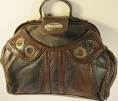 KMQ Women Leather Patchwork Handbag #KMQ #Handbag