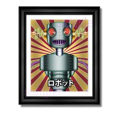 Digital Download Print  vintage robot  Vintage by JaimeArtDesign