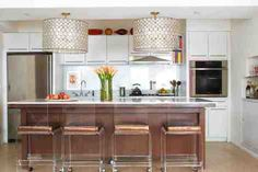 great lights over the kitchen island