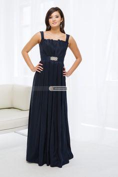 #idreammart #navyblue #birdesmaid #dress #freeshipping Elegant Dark Navy Satin Bridesmaid Dress with Scalloped-Shape Neckline - iDreamMart.com