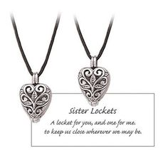 Sisters Heart Prayer Locket Set *** Read more reviews of the product by visiting the link on the image.