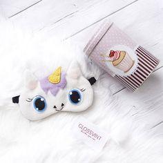 """Sleep mask """"Unicorn"""", Best Gift, Funny sleep mask, Travel Sleep Mask, Eye Mask, Sleeping mask, Unicorn"""