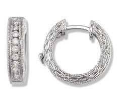 1/4 Carat Antique Diamond Hoop Earrings in White Gold (with Safety Lock) SecureHoop, http://www.amazon.com/dp/B00023LTZA/ref=cm_sw_r_pi_dp_8p33qb19TBKC7