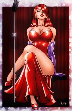 Jessica Rabbit by *ErikVonLehmann on deviantART