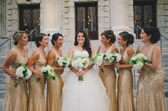 1000 Ideas About Gold Bridesmaid Gowns On Pinterest