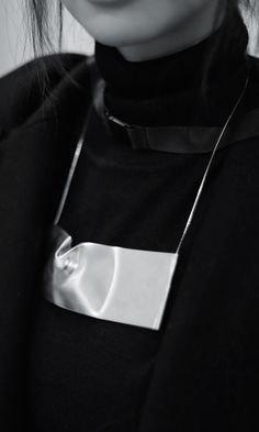 Noritamy | Rectangle DENTED necklace