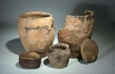 Selection of Iron Age pottery from Orkney, © NMS