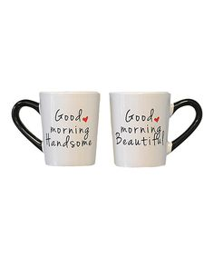Look what I found on #zulily! 'Good Morning' Mug - Set of Two by Tumbleweed #zulilyfinds