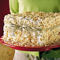 Showstopping Christmas Cakes | White Chocolate-Almond Cake | SouthernLiving.com