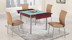Global D3232DT+D2067DC Diningroom Set - Modern diningroom set. Table is made of wood with extension. The set will fit perfectly into any contemporary interior.