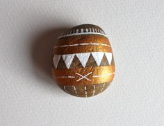 Taos Geometric Stone - Painted Stone - Original Hand-Painted Stone - Rock Art. $20.00, via Etsy.