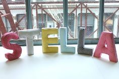DIY Super Easy Fabric Covered Letters