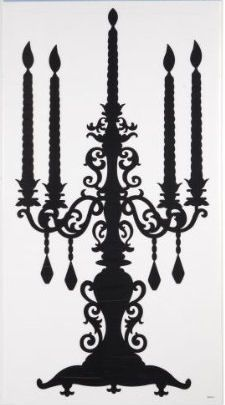 Removable Stickers - #Candelabra silhouette    ~~~~~~  #wedding, home decor or gift idea.  ~~~~~  www.CandelabraCenterpieces.info
