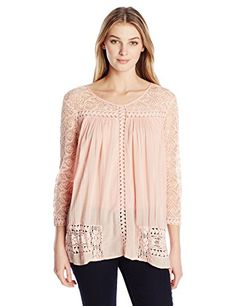 Karen Kane Women's Mixed Lace Top, Salmon, X-Large Karen Kane http://www.amazon.com/dp/B01770IZ52/ref=cm_sw_r_pi_dp_vxLYwb12258BP