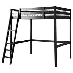 STORÅ Loft bed frame - black - IKEA $299 full size bed. I think I'd have to cut it down for her though. It'd be too high otherwise.