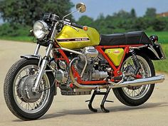 1972 moto guzzi v7 red frame - Google Search