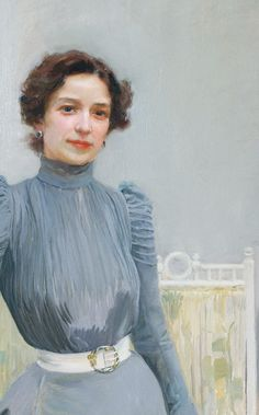 Joaquín Sorolla: Clotilde in a grey dress. source Clotilde del Castillo, the daughter of a famous photographer, was Sorolla's wife and muse. L'art Du Portrait, Portraits, Woman Painting, Figure Painting, Art Espagnole, Spanish Art, Impressionist Artists, Virtual Art, Art Anime