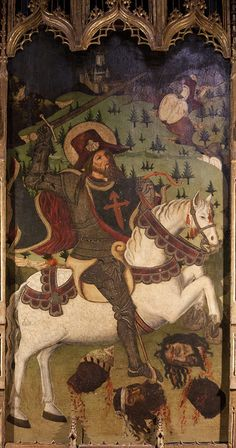 Santiago  This fierce depiction of St James as 'Matamoros', Slayer of Moors, comes from the Alcazar in Segovia.