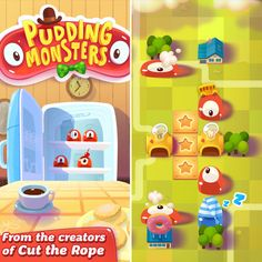 Mobiles, Monster Games, Game Ui, Future City, Game Design, Toy Chest, The Creator, Puzzle Games, Pudding