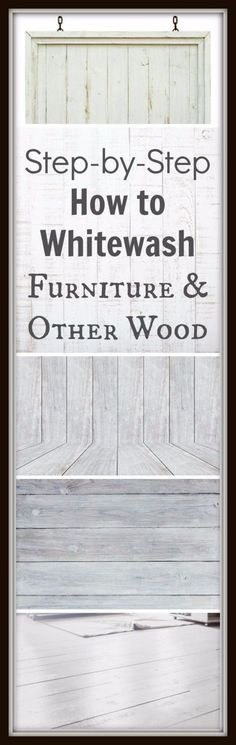DIY Furniture Refinishing Tips - Whitewashing Furniture - Creative Ways to Redo Furniture With Paint and DIY Project Techniques - Awesome Dressers, Kitchen Cabinets, Tables and Beds - Rustic and Distressed Looks Made Easy With Step by Step Tutorials - How To Make Creative Home Decor On A Budget http://diyjoy.com/furniture-refinishing-tips #shabbychicdecoronabudget
