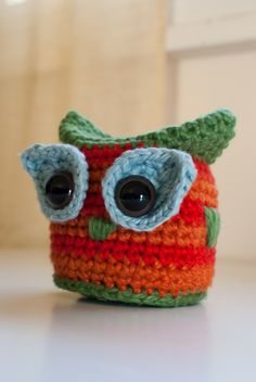 Because he loves owls. by Full Of Fluff, via Flickr ~ Free Pattern