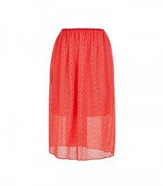 Tibi Diffusion Eyelet Pull On Skirt