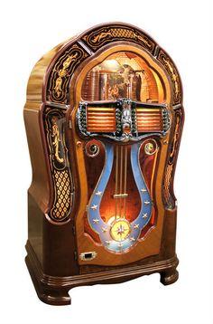 Wurlitzer model 1080 c Wurlitzer History Jukebox, Rock And Roll, Radios, Music Machine, Antique Radio, Old Music, Record Players, Victorian Furniture, Vinyl Music