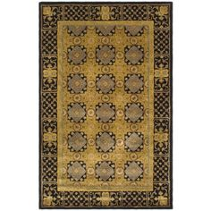 Safavieh Classic CL301A Gold - Black Area Rug   http://www.arearugstyles.com/safavieh-classic-cl301a-gold-black-area-rug.html
