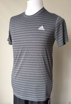 #ebay collectibles Adidas men athletic t-shirt size S short sleeve NWT gray with stripes withing our EBAY store at  http://stores.ebay.com/esquirestore