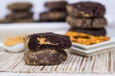 Dark Chocolate Peanut Butter Cup Pretzel Cookies | Veggie and the Beast