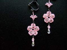 Patterns Free Bead Tatting | And here comes a free pattern for earrings of the motif.