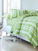 Seersucker Striped Bedspread & Shams   LinenSource