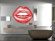 The kissable lips vinyl wall art is sure to add the WOW factor to your contemporary home