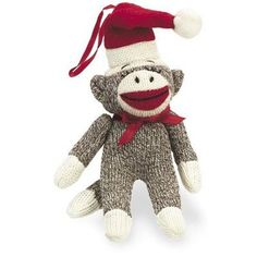 Old Fashioned Santa Sock Monkey Ornament -- Details can be found by clicking on the image.