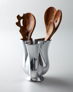 Kitchen Utensils & Tulip Canister by Nambe