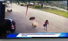 #News  Video impressionante mostra Pneu solto desgovernado batendo em cabeça de pedestre em Ipatinga