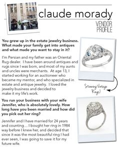 Claude Morady - Vintage Jewelry & Engagement Rings