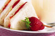 Strawberry cream sandwiches
