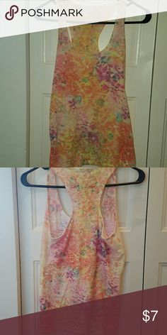 Bright floral raceback tank top Bright colors. Size xs from delias. Good condition. Tops Tank Tops