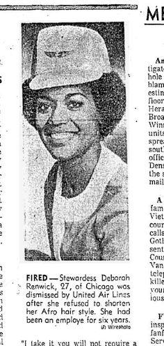 Deborah Rertwick fired for refusing to cut her afro