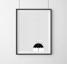 Heureux le parapluie ! Format : 30x40cm Papier : Bright White Rag 300g. Blancheur naturelle réalisé en 100% coton. Edition limitée à 20 ex. Les affiches sont vendues sans cadre. ...
