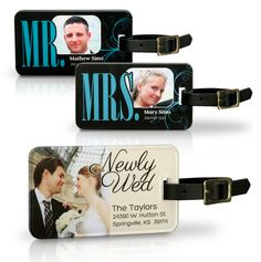 After the wedding, it's time for the honeymoon!  A personalized Acrylic Luggage Tag is fun and makes a great gift for the happy couple.  Click on the photo and ask for a custom quote!  #wedding #luggage #photography #gift AcrylicPress.com